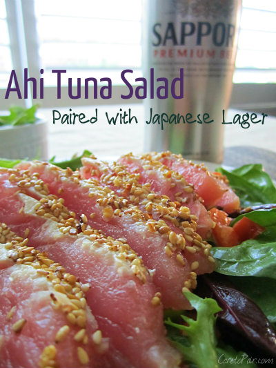 Ahi Tuna Paired with Japanese Lager