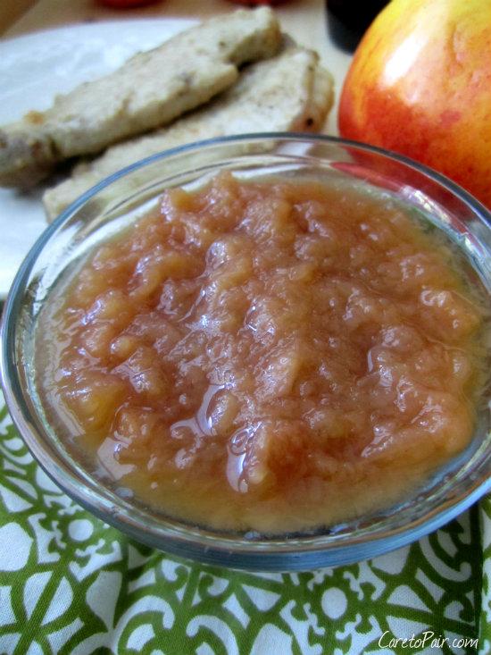 Homemade Applesauce and Pork Chops