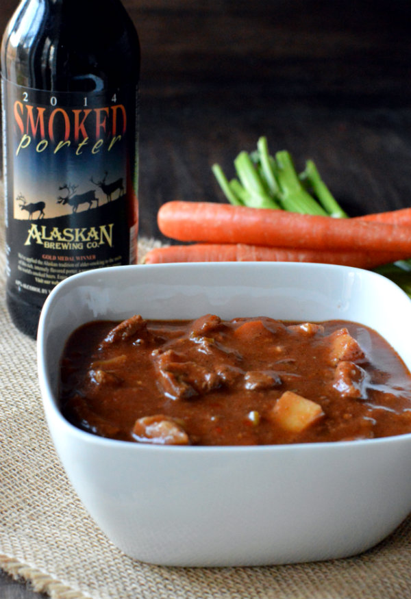 Hearty Beef Stew Simmered in Alaskan Smoked Porter, then Paired with the Same Beer! |CareotPair.com