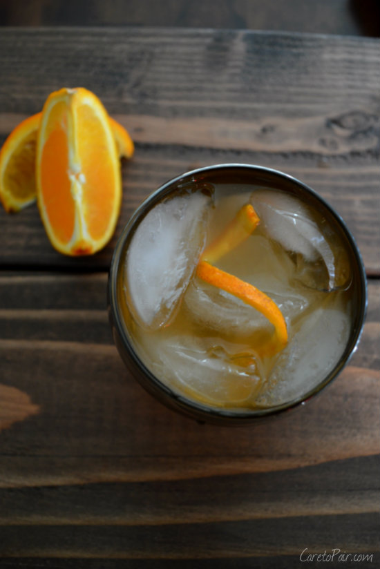 Mezcal Old Fashioned Using Tequila, Mezcal, and Muddled Orange in the Standard Old Fashioned Recipe