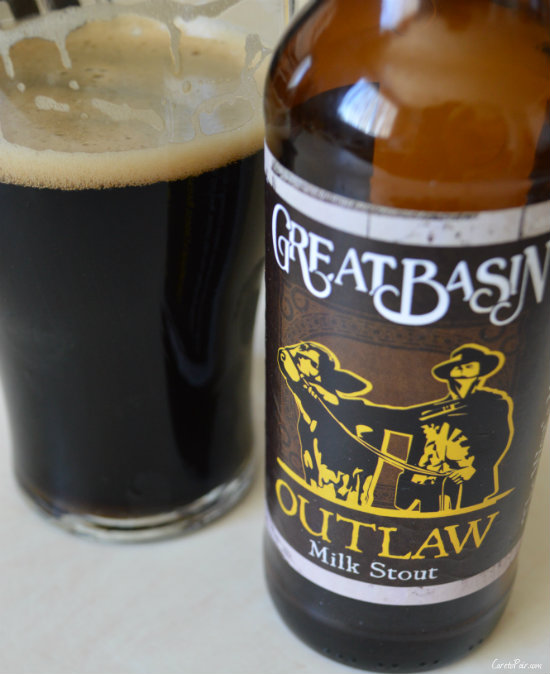 Great Basin Outlaw Milk Stout Paired With Fudgy Chocolate Brownies | CaretoPair.com