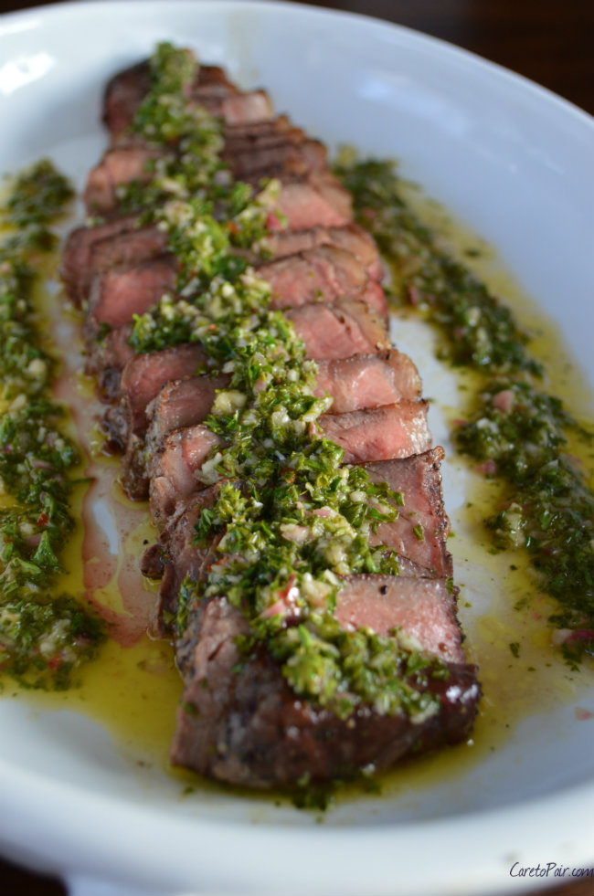 Argentinean Steak with Chimichurri Sauce | CaretoPair.com