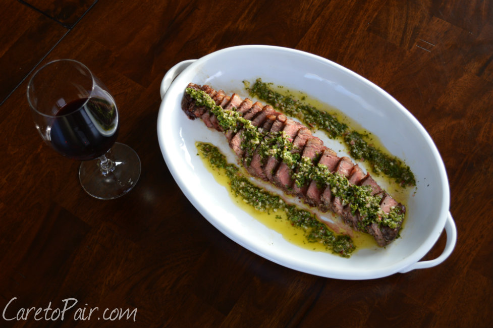 Wine Pairing with Steak and Chimichurri Sauce | CaretoPair.com