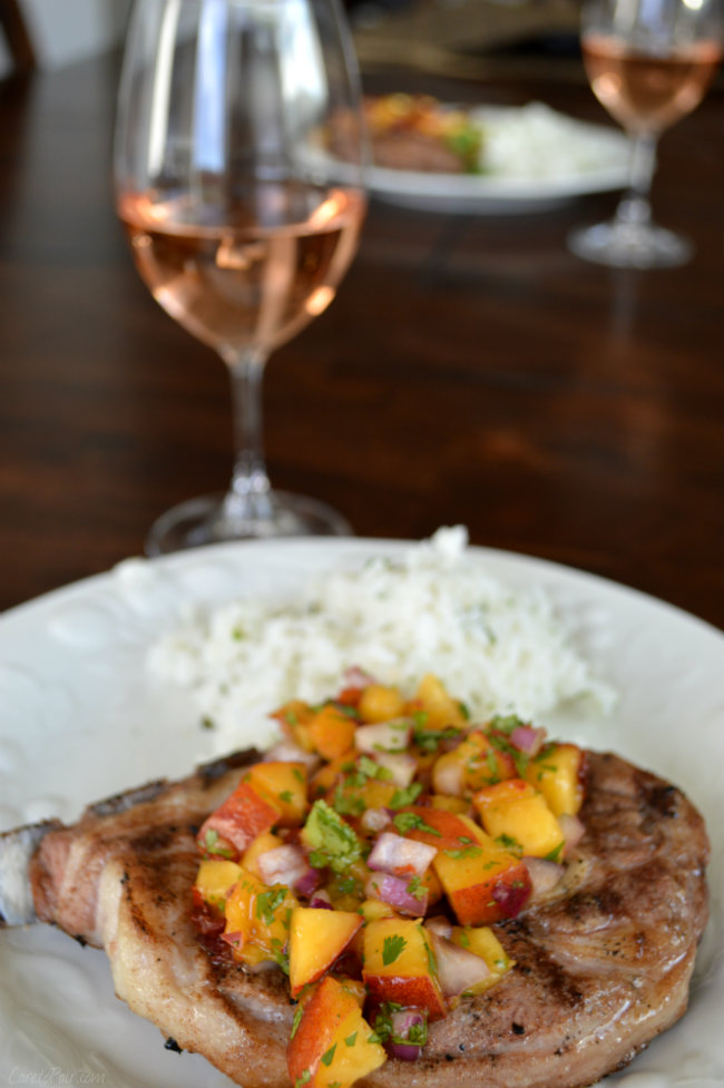 Lamb Wine Pairing with Fresh Peach Salsa | CaretoPair.com