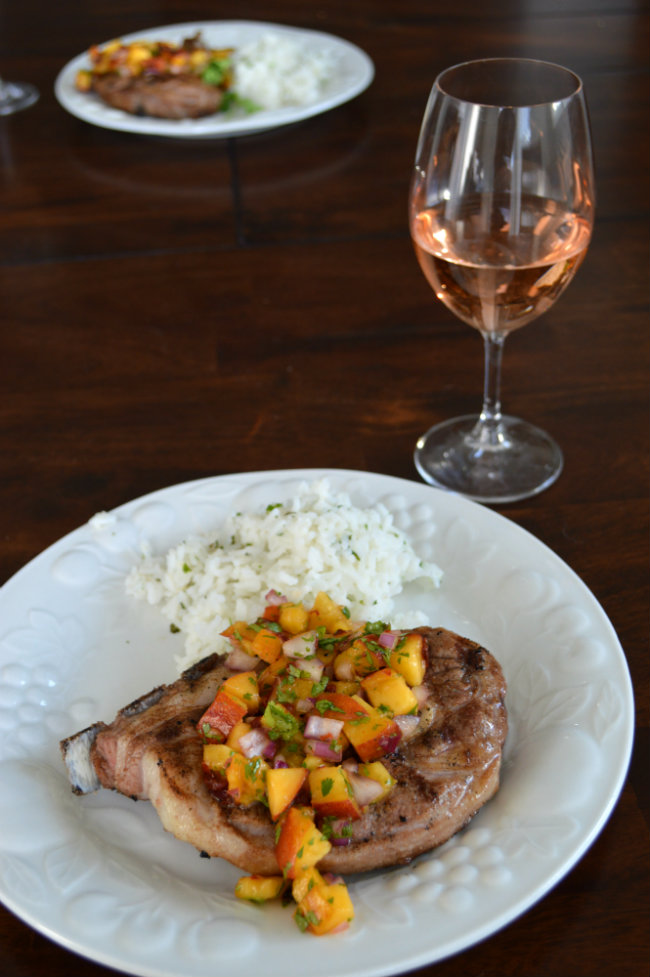 Rose Wine Pairing with Lamb and Peach Salsa | CaretoPair.com