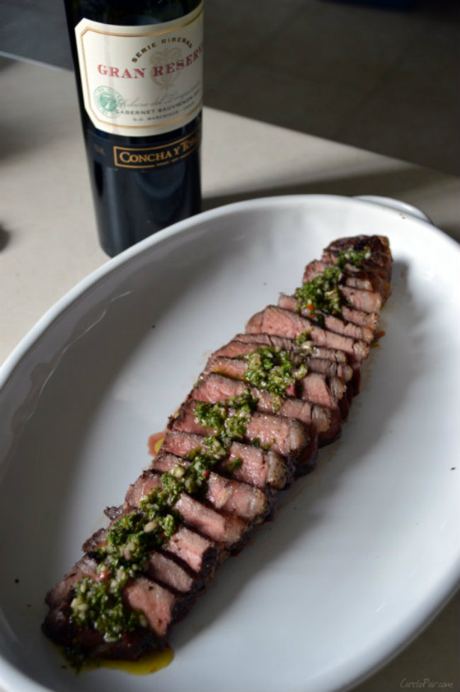 What wine to pair with chimichurri steak | CaretoPair.com