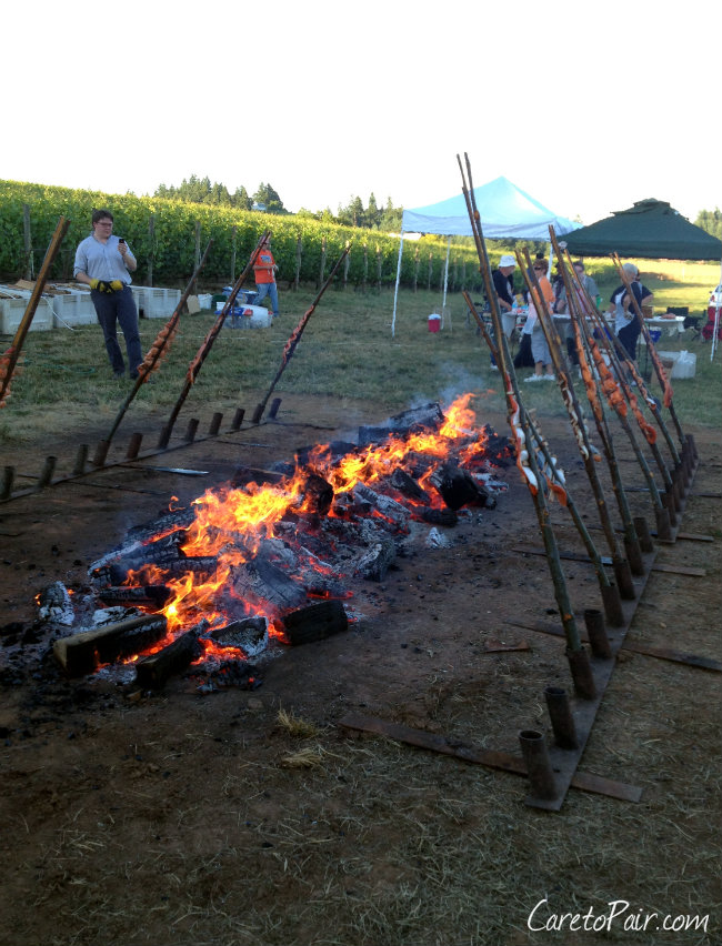 OPC Oregon PInot Camp Salmon Bake 2014 Recipe and Wine Pairing | CaretoPair.com