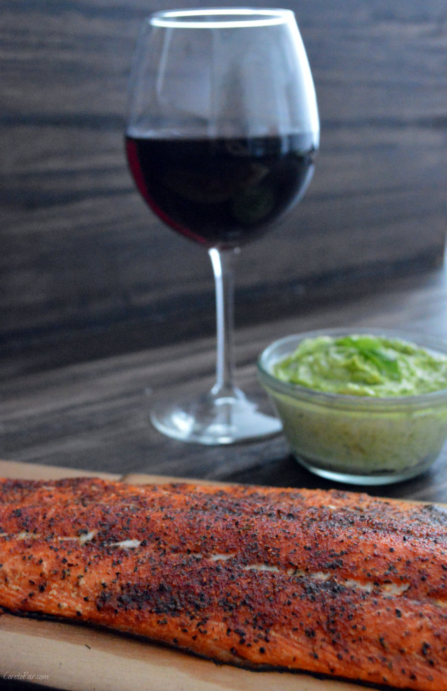 Cedar Plank Salmon and PInot Noir Pairing | CaretoPair.com