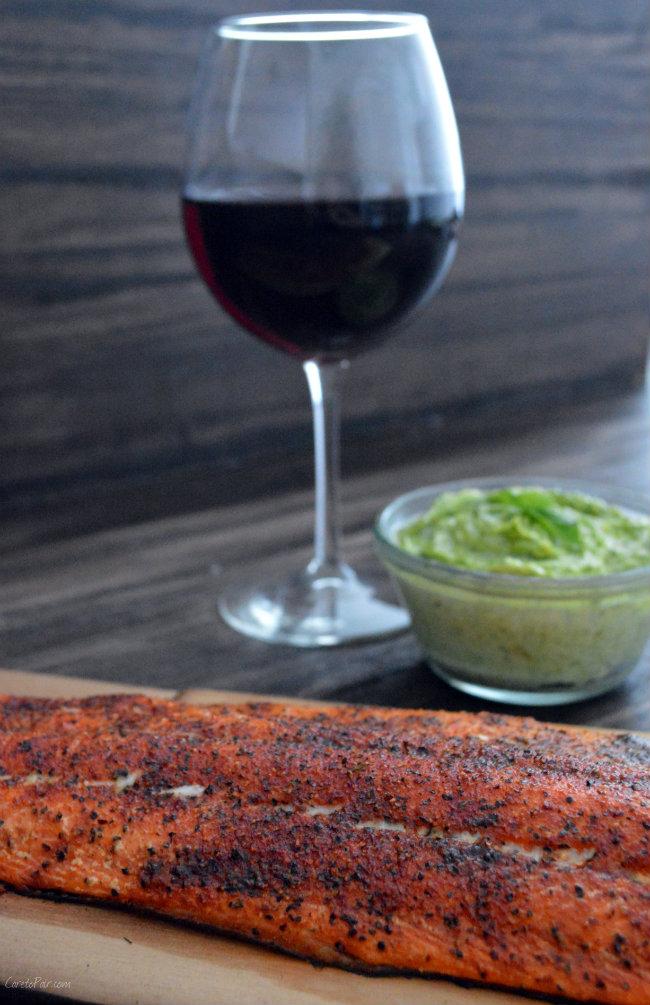 Cedar Plank Salmon and PInot Noir Pairing | CaretoPair.com