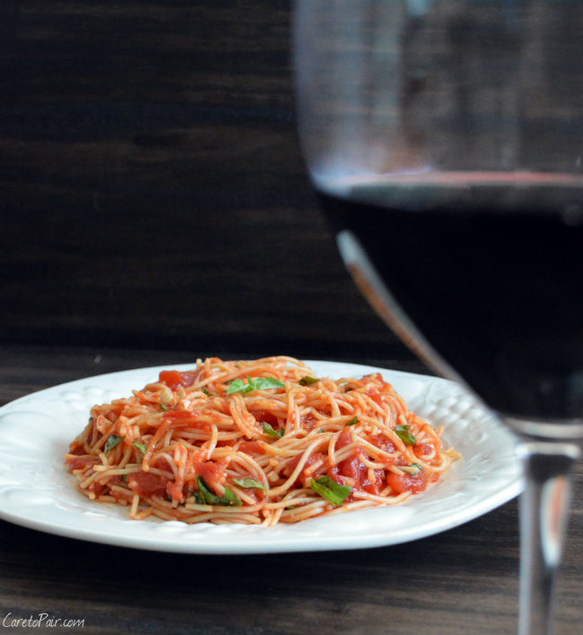 Spaghetti WIne Pairing | CaretoPair.com