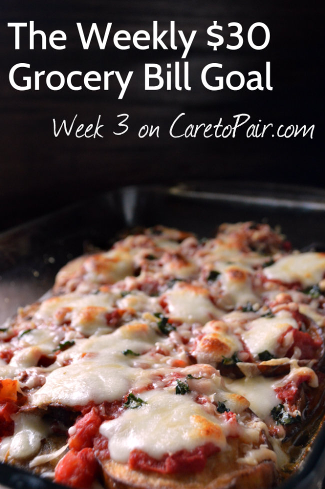 Weekly Budget Meals: Eating on a Budget Week 3 Meal Planning | CaretoPair.com