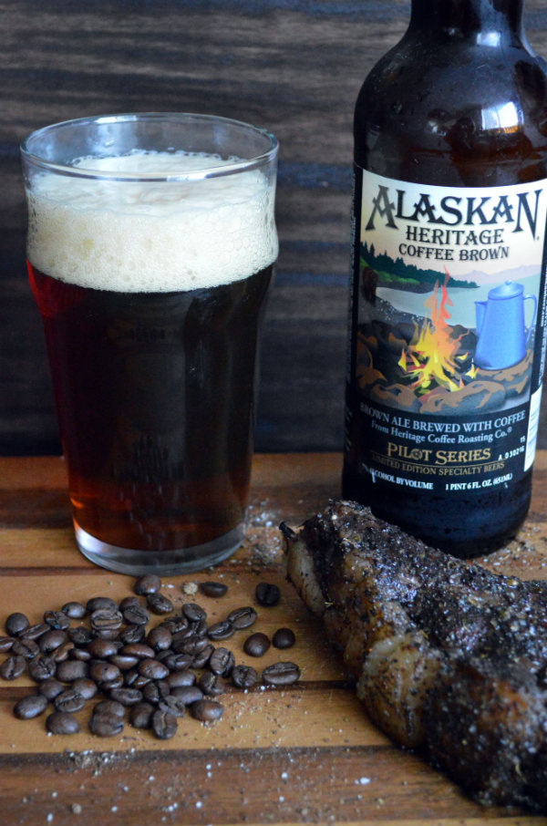 Alaskan Coffee Brown Ale Paired with Coffee-Rub Steak | CaretoPair.com