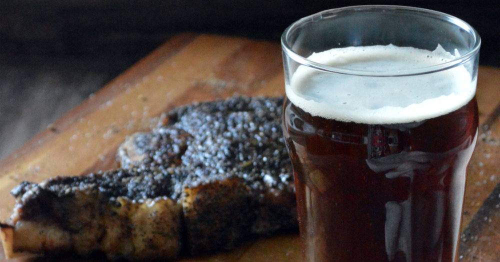 Coffee Rubbed Steak with Alaskan Brewing Coffee Brown Ale | CaretoPair.com