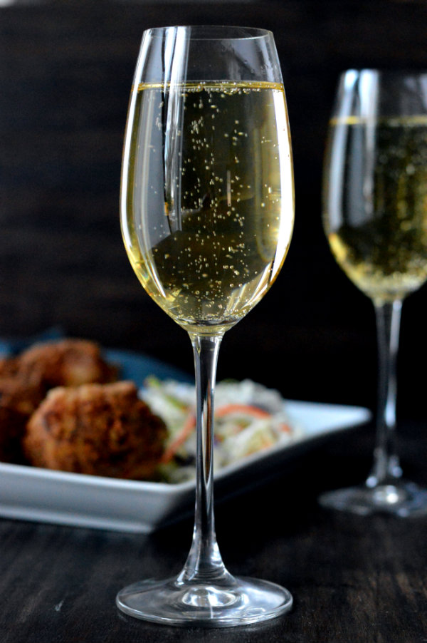 "Pairing Sparkling Wine with Fried Chicken: Make sure to pick a sparkling wine that is ""Extra Dry"""