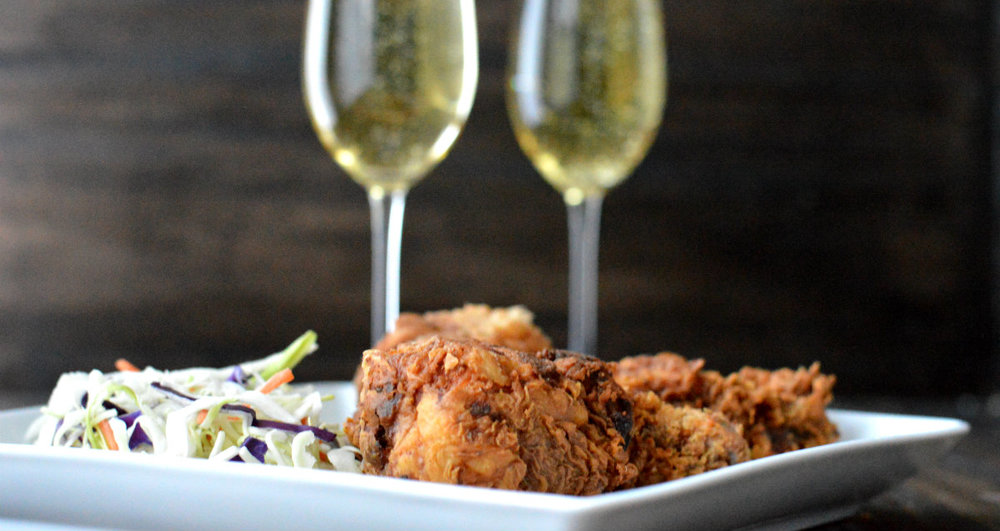 What Wine should you pair with fried chicken? Bubbles!
