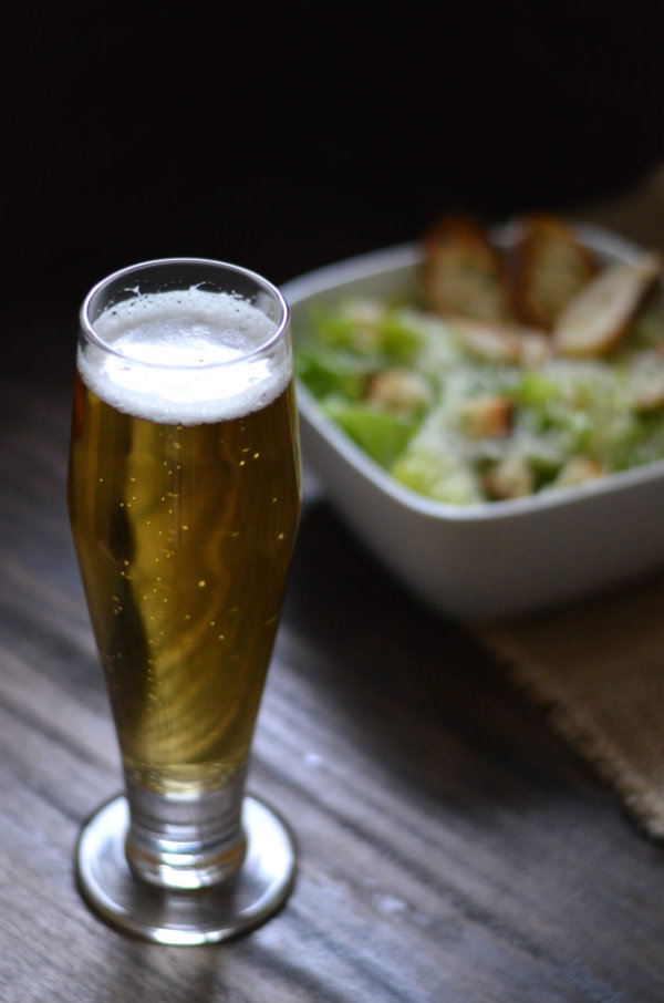 A classic caesar salad recipe and a beer pairing to go with it! This pairing may seem simple but sometimes the simplest things in life are the best :)