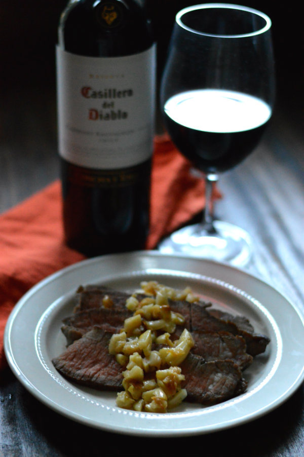 It's a Halloween treat for adults! Keep the vampires away with roasted garlic over roast beef and pair with Casillero del Diablo Cabernet Sauvignon. Click to get the recipe! CaretoPair.com