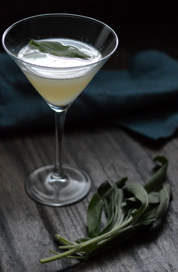 The Cemetery Sage Cocktail using Virginia City Nevada Cemetery Gin, sage, and lemon. Great Halloween cocktail and refreshing enough to drink year round! via CaretoPair.com