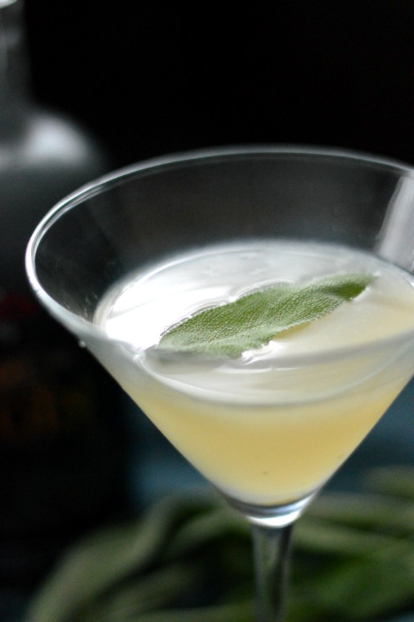 The Cemetery Sour Cocktail using Virginia City Nevada Cemetery Gin, sage, and lemon. Great Halloween cocktail and refreshing enough to drink year round! via CaretoPair.com