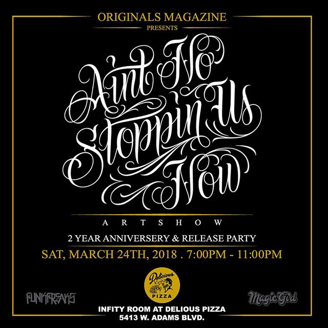 Big thanks to @originalsporvida for having me on here with all these dope artists:) It's Originals Magazine 2nd year anniversary and release party. You're all invited and hope to see you there this Saturday! #KeepingTheCultureAlive #ChicanoArt #FreeEvent #OriginalsMagazine #LowriderArt #FemaleArtist #SintNoStoppinUsNow