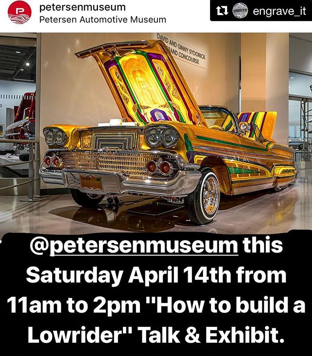 "You're all invited to ""How to build a lowrider"" at the Petersen Museum of Los Angeles. I am humbled and so happy to be apart of this beautiful event also to be able to work with these amazingly talented lowrider builders/artists. I'll be there working on a new painting:) Thank you everyone that follows up on my art and events.. I hope to see a lot of you there✨  Yely 💕  #PetersenAutomotiveMuseum #LowriderArt  #LowriderEvent #SFValley #LosAngeles #FemaleArtist #TattooArtist #ChicanoArt #SoCalArtist ✨Thank you!!! @clcustoms and @doctora_dnice15 ✨"