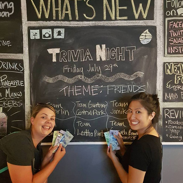 Friends Trivia Winners