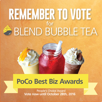 Vote Blend Bubble Tea