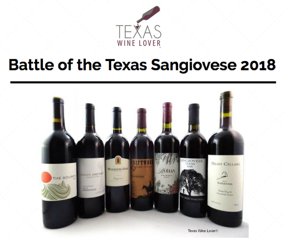 'Top 10' in Battle of Sangiovese, May 2018