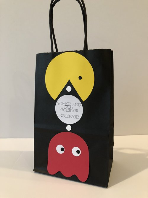 Pac Man Birthday Party Treat Bags Video Game Gamer Gaming Vintage Games Ghost