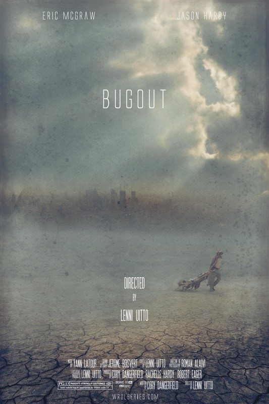 Bugout - Directed by Lenni UittoDuring turmoil from terrorist chem bomb attacks Clive and his son must escape the city in search of safety