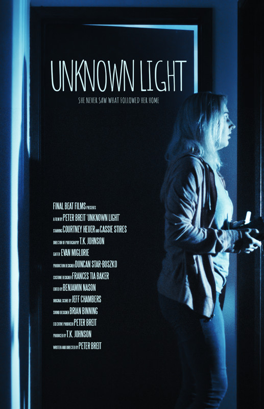Unknown Light - Directed by Peter BreitDays after returning from an interstellar research mission, June is sure something terrible has followed her home. She attempts to warn her sister, but the ever-adventurous Jackie needs to know more.