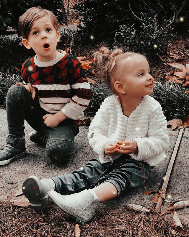 "Soren's ""uh-oh"" face. 😆😂 Getting a picture of these two individually let alone TOGETHER is a miracle. 😅 Our sweet boy is 5 years old today and I did a little update on how he's doing and some of my favorite pics from the last 5 years on my IG stories. We are so proud of this boy. He is brave, determined, strong, affectionate, smart, loud, joyful, particular, handsome and I'm grateful everyday he's ours. 💕 Happy birthday my sweet son."