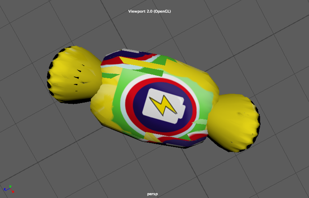 energy boost candy model with texture