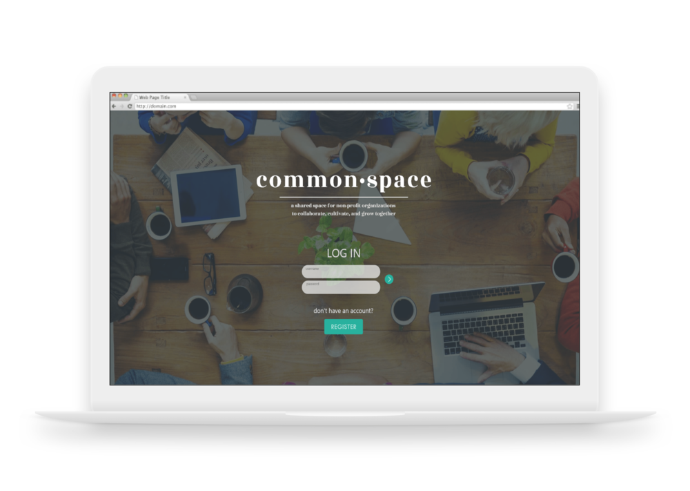 Heather logs in to CommonSpace