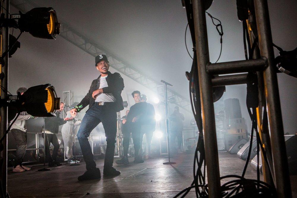 Chance The Rapper, Francis and the Lights, Justin Vernon. Photo Credit:David Szymanski