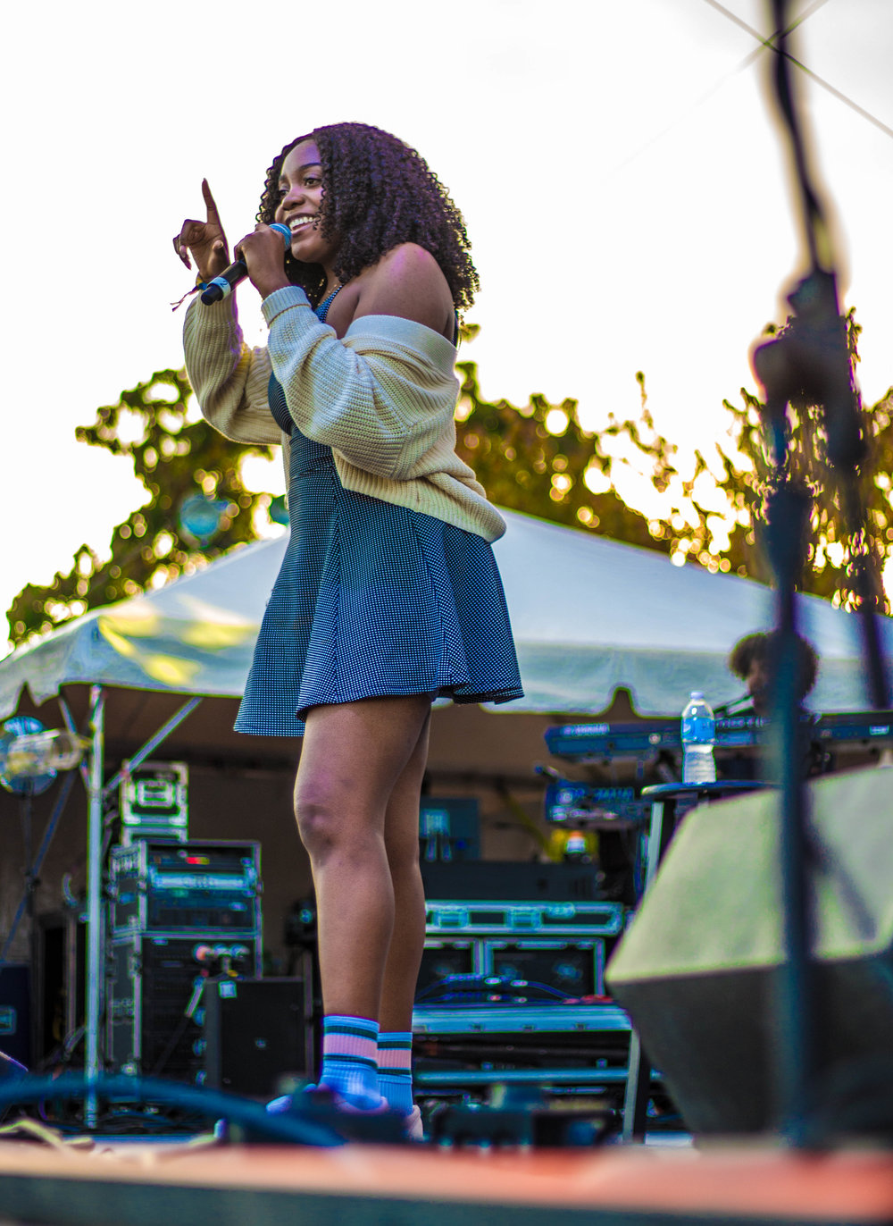 Noname performing during her sunset slot at ATMF