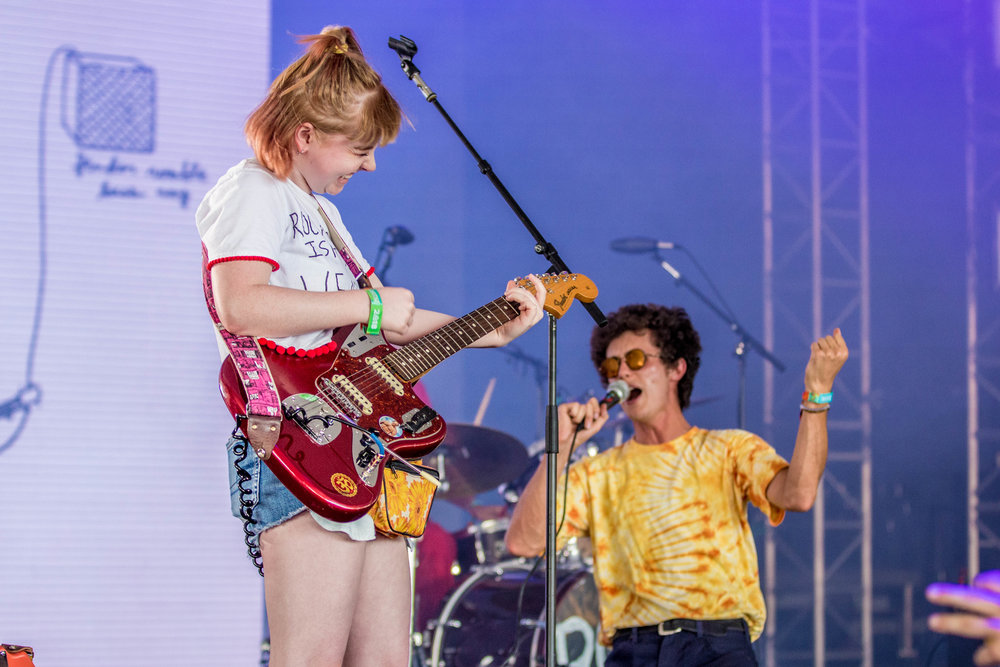 Ron Gallo and his newest band member