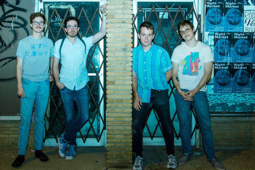 Pool Holograph // From left to right: Jake Stolz, Zach Stuckman, Wyatt Grant, and Paul Stolz