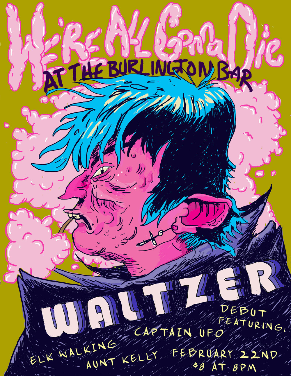 Flyer for Waltzer's Chicago Debut Show