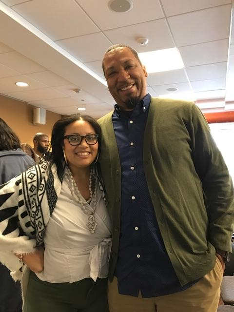 Dr. Allison Mathews with Harvard Fellow, Professor, & Poet Dasan Ahanu