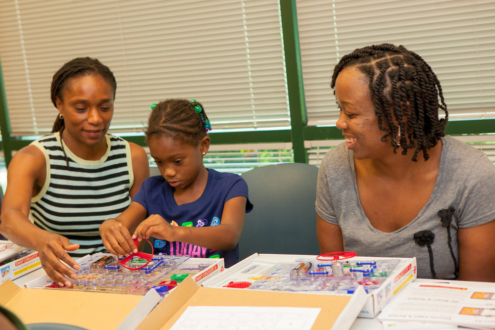 April Jones (adult)  featured with members of Black Girls Code
