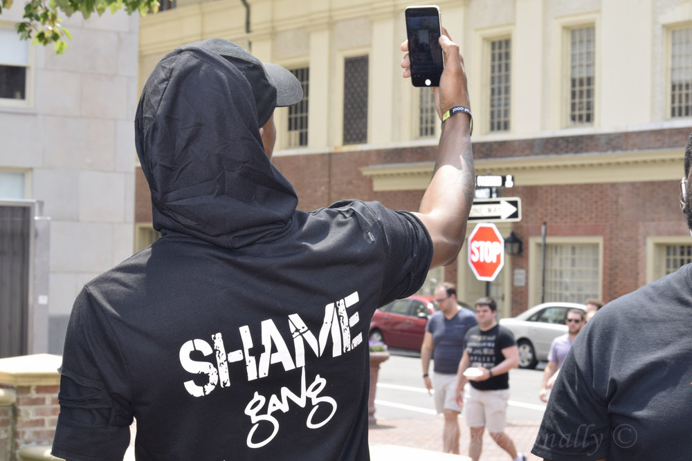 Hip Hop Artist Shame is spotted in Downtown Durham near the Beats & Bars Festival Party!
