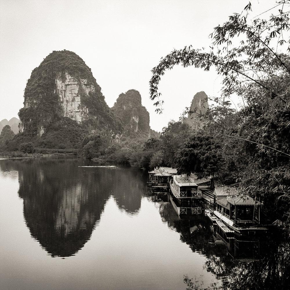 Docked Boats, China, 2018