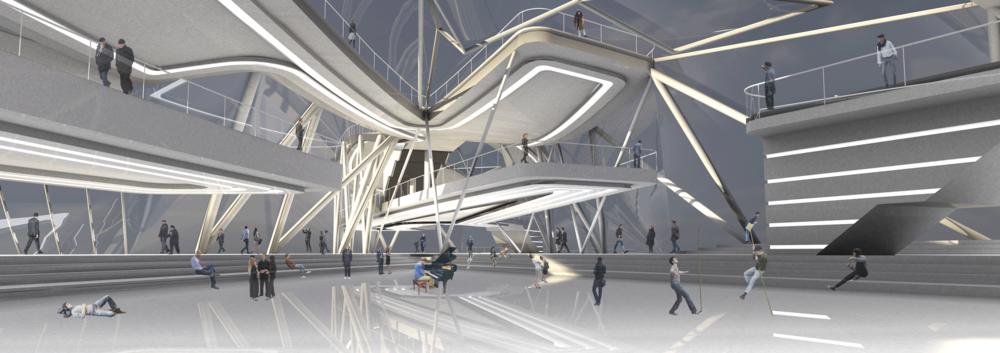 Performance Atrium inside  Neighbour-Food Hub