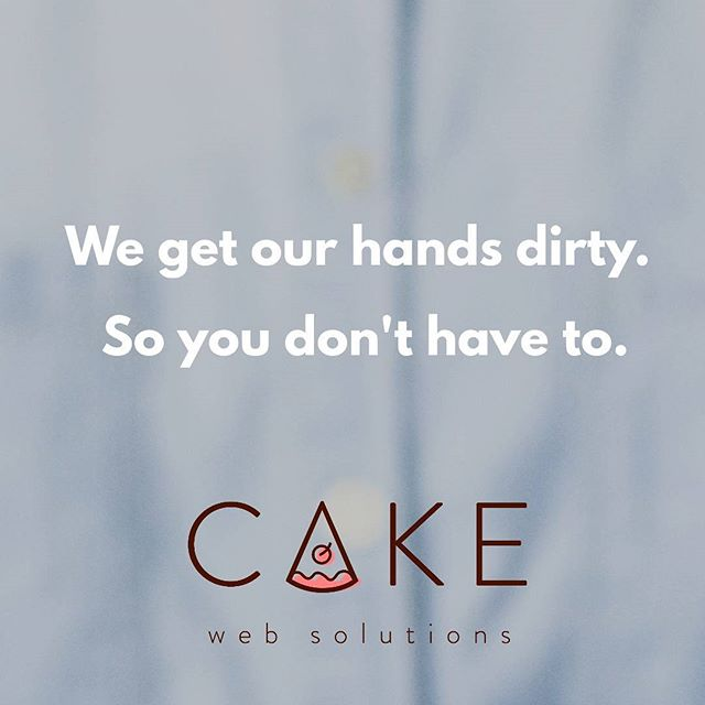 We do the work for you... every single step of the way.  #easy #nohassle #cakewebsolutions