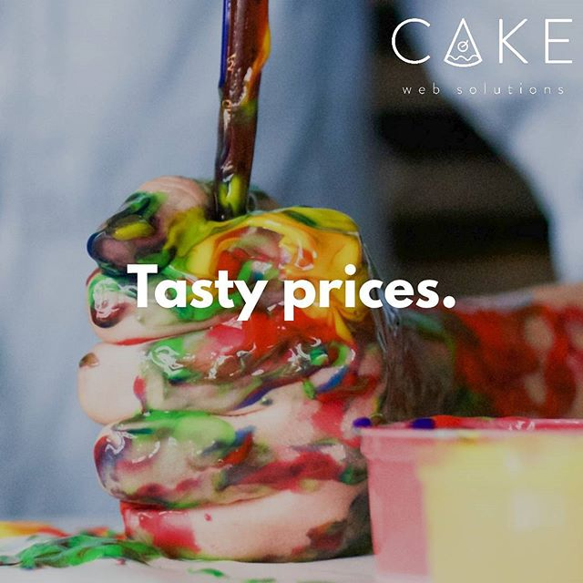 We offer some of the most competitive prices on the market! #cakewebsolutions
