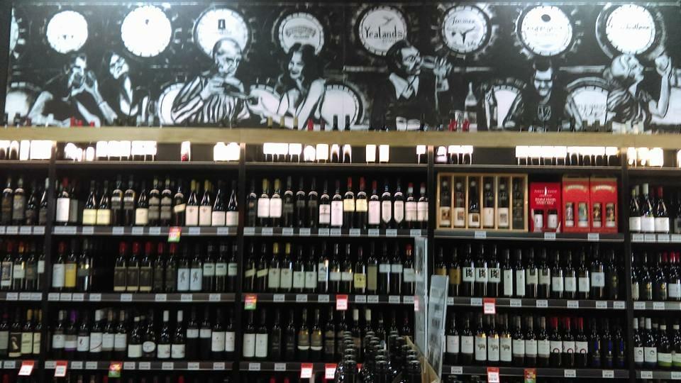 Wine rack mural