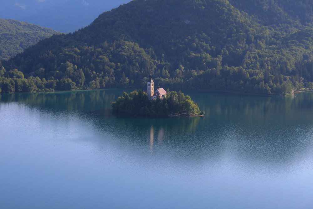 View of Bled Castle from Blejski Grad