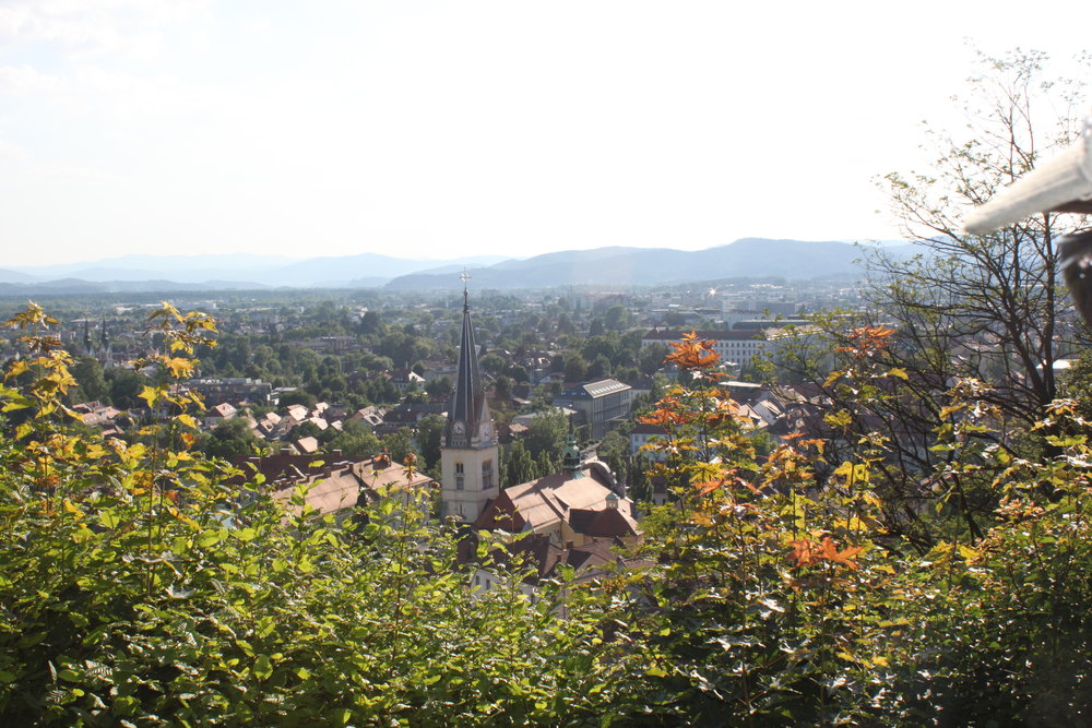 View from Ljubljanski grad