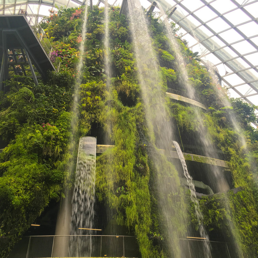 World's largest indoor waterfall